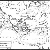 Карта Византийской империи