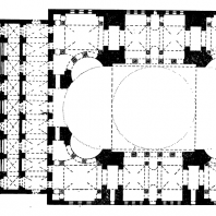 Храм св. Софии в Константинополе. 532-537 гг. План
