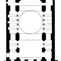 Церковь св. Ирины в Константинополе. 30-е гг. 6 век. План