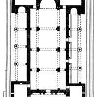 Храм Рипсиме близ Эчмиадзина. 618 г. План