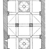 Монастырь Ахпат. Трапезная. 13 век. План