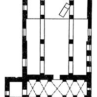 Церковь св. Софии в Охриде. 11 век. План