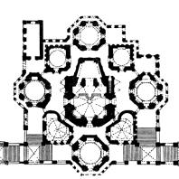 Собор Покрова на рву (храм Василия Блаженного) в Москве. План