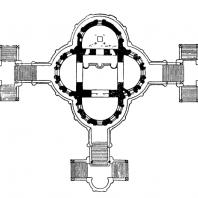 Церковь Покрова в Филях. 1690-1693гг. План