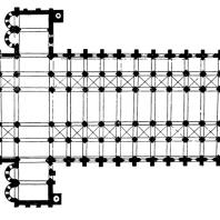 Так называемая Третья церковь в Клюни. 1088 - 1107 гг. План