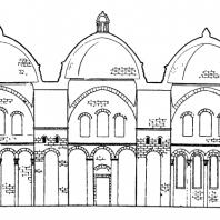 Церковь Сен Фрон в Перигё. Продольный разрез