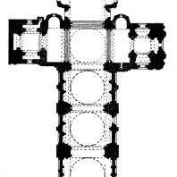 Собор Сен Пьер в Ангулеме. Окончен в 1128 г. План