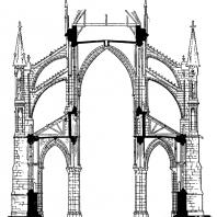 Собор Нотр-Дам в Реймсе. 1210 г.- начало 14 в. Поперечный разрез