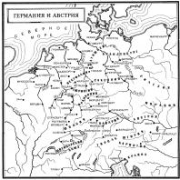 Карта Германии и Австрии в Средние века