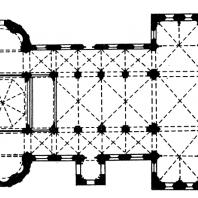 Церковь Апостолов в Кельне. Конец 12 в. План