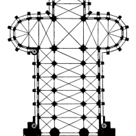 Церковь cв. Елизаветы в Марбурге. Начата в 1235 г., башни закончены в 1-й половине 14 в. План