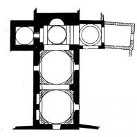 Церковь Сан Джованни дельи. Эремити в Палермо. Заложена в 1132 г. План