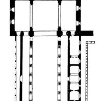 Собор в Монреале. Конец 12 - начало 13 века. План