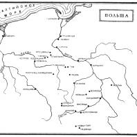 Карта Польши в Средние века