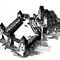 Тракайский замок. 15 век. Реконструкция