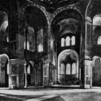 Церковь Сан Витале в Равенне. Внутренний вид