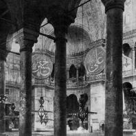 Храм св. Софии в Константинополе. Внутренний вид