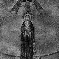 Богоматерь с младенцем. Мозаика абсиды церкви Успения в Никее. Вскоре после 787 г.