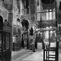 Кафоликон монастыря Хозиос Лукас в Фокиде. Внутренний вид