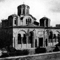 Церковь Апостолов (Сууксу-Джами) в Фессалониках. 1312-1315 гг. Вид с северо-запада