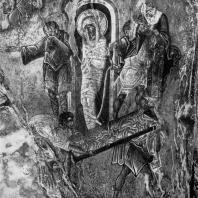 Воскрешение Лазаря. Фреска церкви Пантанасса в Мистре. Фрагмент. 1428-1445 гг.