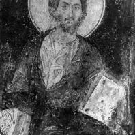 Христос Вседержитель. Фреска церкви в Бояне. Фрагмент. Середина 13 век