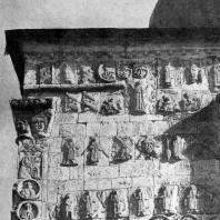 Георгиевский собор в Юрьеве-Польском. 1230-1234 гг. Фрагмент скульптурного декора
