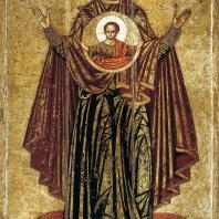 Знамение («Ярославская оранта»). Икона 1-й половины 13 века. Москва, Третьяковская галерея