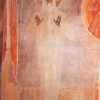 Феофан Грек. Макарий Египетский.Фрагмент фрески церкви Спасо-Преображения на Ильине улице в Новгороде. 1378 г.