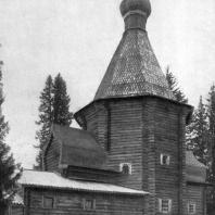Никольская церковь в селе Панилове Архангельской области. 1600 г. Вид с юго-запада