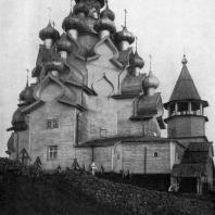 Преображенская церковь погоста Кижи. Карельская АССР. Начало 18 в. Вид с северо-запада