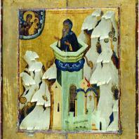 Симеон Столпник. Икона 2-й половины 16 века. Москва, Третьяковская галерея