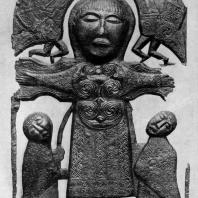 Бронзовое распятие из Атлона. Около 750 г. Дублин, Музей