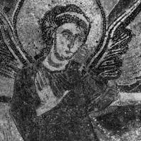 Ангел. Фрагмент мозаики «Ангелы с Ковчегом Завета» церкви в Жерминьи де Пре