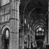 Собор Сен Лазар в Отене. 1-я половина 12 в. Внутренний вид