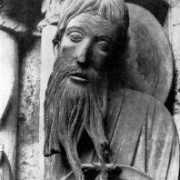 Иоанн Креститель. Статуя северного портала собора в Шартре. Фрагмент. 1200-1210 гг.