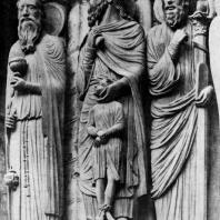 Жертвоприношение Авраама. Скульптурная группа собора в Шартре. Портал северного фасада трансепта