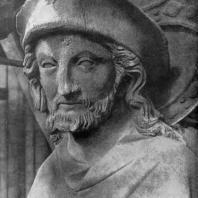 Христос-странник. Статуя собора в Реймсе. Фрагмент