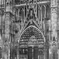 Собор в Страсбурге. Центральный портал западного фасада. Начат в 1276 г.