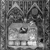 Ноев ковчег. Миниатюра Псалтыри св. Людовика. 1270 г. Париж, Национальная, библиотека