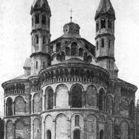 Церковь Апостолов в Кельне. Конец 12 в. Вид с востока