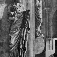 Собор св. Петра и св. Георгия в Бамберге. Фрагмент интерьера со статуями Елизаветы и Марии. 1230-1240 гг.