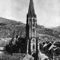 Собор во Фрейбурге. 1260-1350 гг. Общий вид с северо-запада