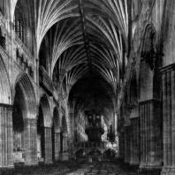 Собор в Эксетере. Основное строительство в 1270-1370 гг. Внутренний вид