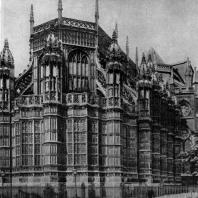 Капелла Генриха VII в Вестминистерском аббатстве в Лондоне. 1502-1512 гг. Вид с северо-востока