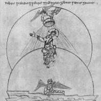 Первый день творенья. Миниатюра поэмы Кэдмона. 1000 г. Оксфорд, Бодлеянская библиотека