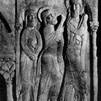 Путь в Эммаус. Рельеф церкви Сан Доминго де Силос в Бургосе. Последняя треть 11 век