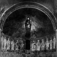Богоматерь-одигитрия. Мозаика абсиды собора в Торчелдо. 12 век