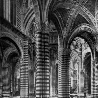 Собор в Сиене. Внутренний вид. Подкупольное пространство. 1264 г.
