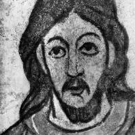 Христос. Фрагмент фрески ротонды св. Екатерины в Зноймо. 1134 г.